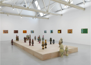 Neighbourhood Garden by Shawanda Corbett at exhibition in Corvi-Mora Gallery in summer 2020
